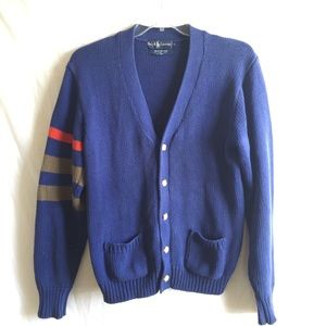 POLO RALPH LAUREN |cardigan vintage striped cotton